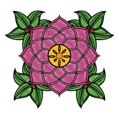 Lotus flower symbol scribble