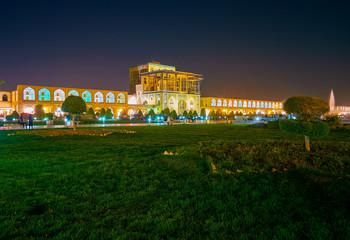 Night illumination in Isfahan, Iran