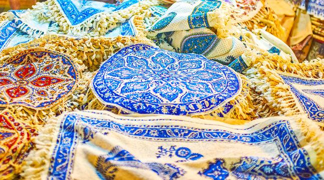 Traditional Persian printed textile, Isfahan, Iran