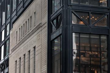 The facade of the original Toronto Stock Exchange building is seen in Toronto