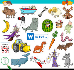 W is for educational game for children