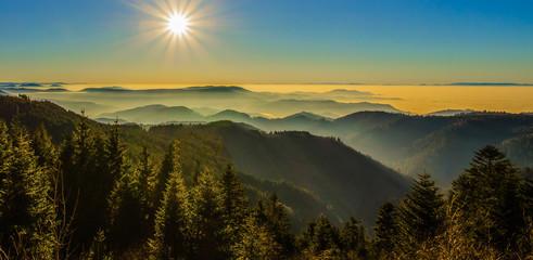 wunderschöne Aussicht auf Schwarzwald Schwarzwaldhochstraße Panorama