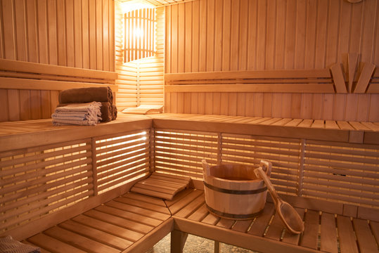 Wooden Sauna, wet area, steam, recreation zone