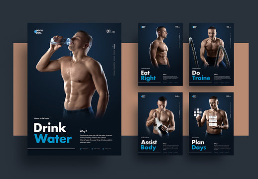 Fitness Flyer Layout Set