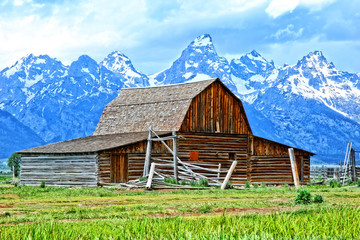 Old Barn Near Jackson Hole by Skip Weeks