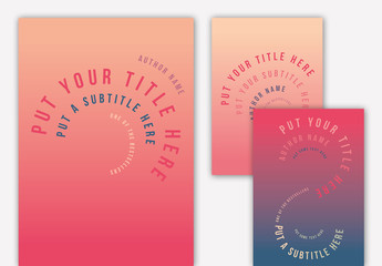Typographic Book Cover Layouts with Gradients