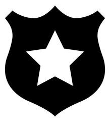 Police Badge Vector Icon.eps