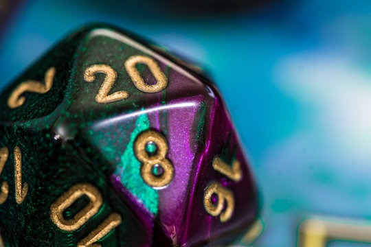 20 sided die with roll of 20