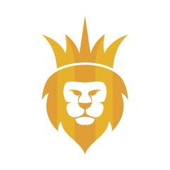 lion king shield vector logo