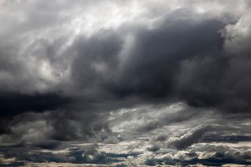 Dark clouds, close-up