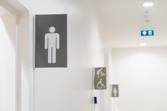icon male toilet on signs or banner