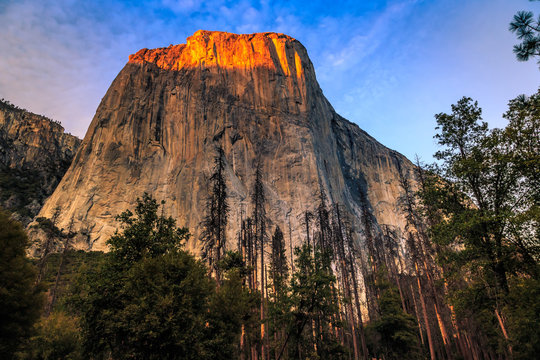 Sunset on El Capitan, Yosemite National Park, California