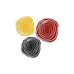 Aboriginal art logo design