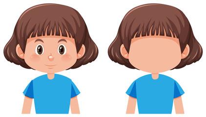 A bob hair girl character