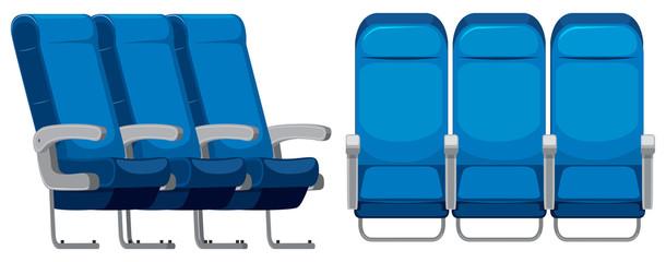 Set of airplane seat
