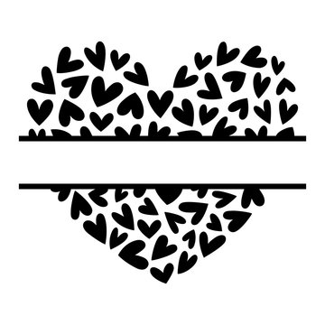 kbecca_split_monogram_frame_hearts_vector