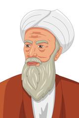 Al-Razi Muslim Philosopher Illustration