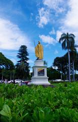 ハワイ,オアフ島,カメハメハ像