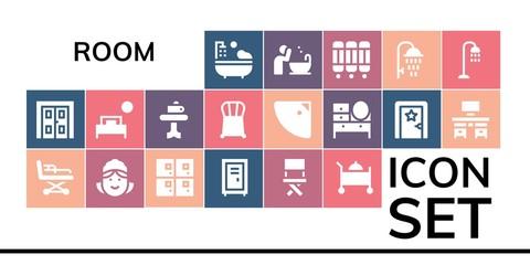 room icon set
