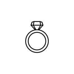 diamond ring icon vector illustration