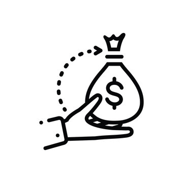 Black line icon for borrower