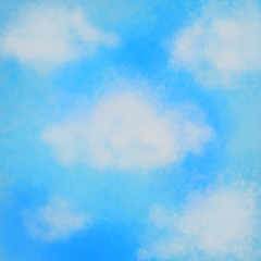 blue sky with white clouds image
