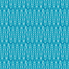 Trendy seamless pattern designs. Mosaic of zigzags and squiggles. Vector geometric background. Can be used for wallpaper, textile, invitation card, wrapping, web page background.