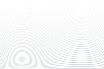 White striped background. Abstract wavy lines texture. Fototapete