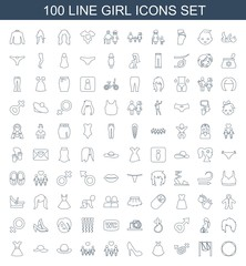 100 girl icons