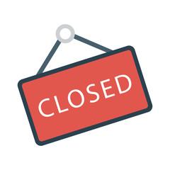 closed   board   hanging