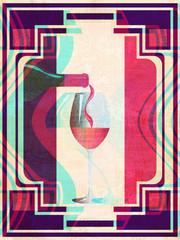 Grunge retro wine banner
