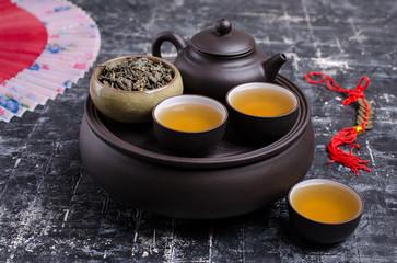 Traditional Asian tea ceremony.