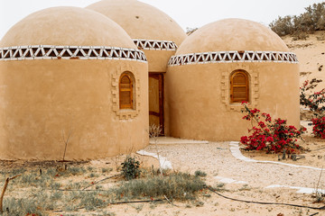 mud brick house in siwa oasis, egypt