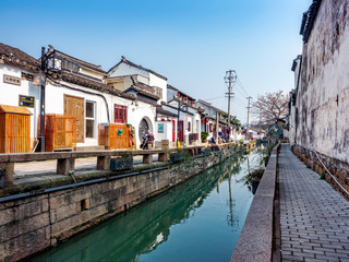 canal in suzhou city