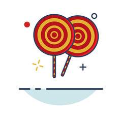 Carnival Icon   Candy Lolipop Icon - with Outline Filled Style