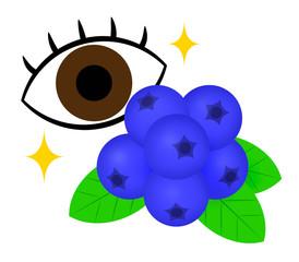ブルーベリーと目