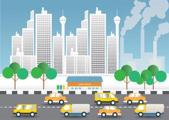 illustration of city
