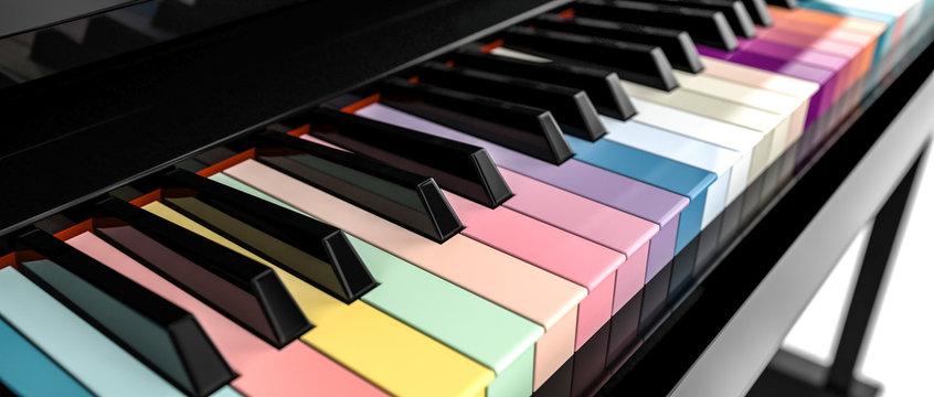 3d piano key board