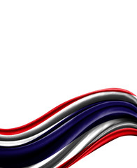 Costa Rica flag on cloth isolated on white background