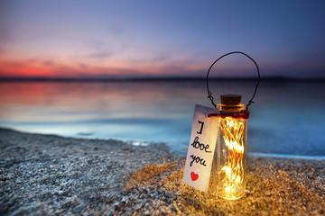 Fotomurales - magisches Licht am Strand