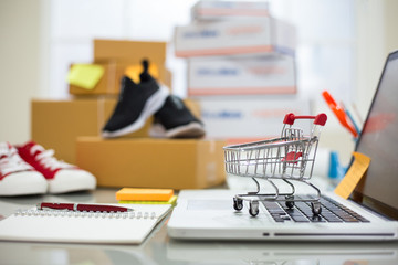 Online shopping young start small business at home