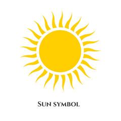 handwritten sun icon symbol. Vector illustration for design