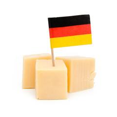 Cubes de fromage avec drapeau de l'Allemagne