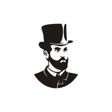 Vintage American Man with Hat illustration