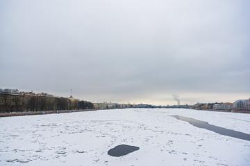 Winter on Neva river