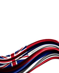 State of Hawaii flag on cloth isolated on white background
