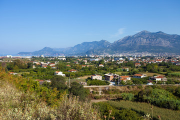 Panoramic view of countryside near Bar town, Montenegro