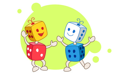 Dancing dice color