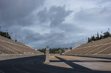 The Panathenaic Stadium also known as Kallimarmaro is a multi purpose stadium in Athens, Greece