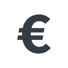 Simple euro symbol, currency icon